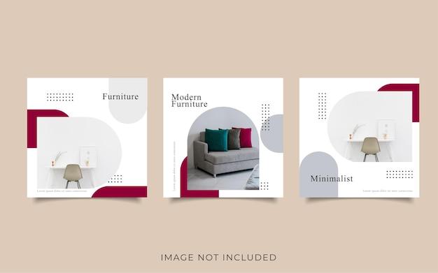 Modèle de vente de meubles de publication de médias sociaux