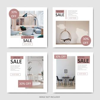 Modèle de vente de mobilier simple pour publication sur les médias sociaux