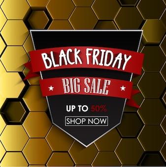 Modèle de vente noir grand vendredi