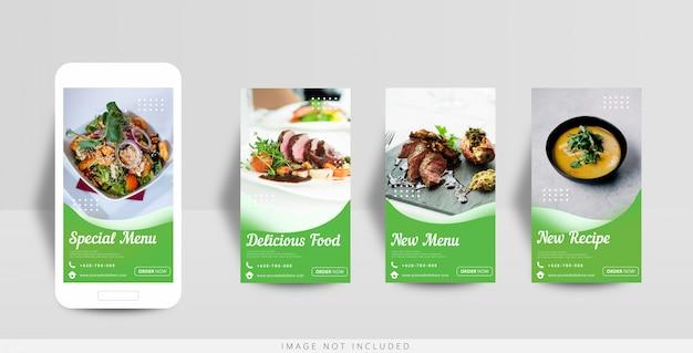 Modèle de vente de nourriture d'histoire instagram de médias sociaux