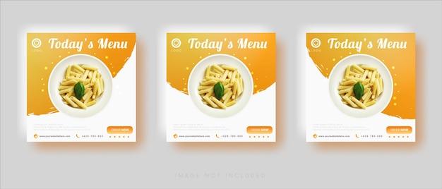 Modèle de vente de nourriture de publication de médias sociaux modernes