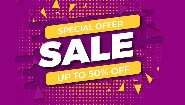 Modèle de vente d'offre spéciale. vente de bannière. promotion des achats. illustration vectorielle