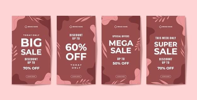 Modèle de vente de promotion de belles histoires instagram