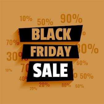 Modèle de vente vendredi noir avec détails de l'offre