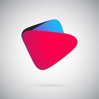 Modèle de ventilateur abstrait géométrique illustration vectorielle colorée emblème de couleur vierge