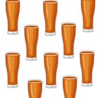 Modèle de verre avec l'icône de la bière