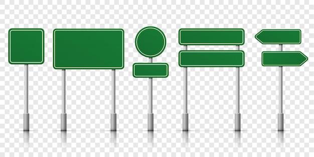 Modèle vert de panneaux de signalisation