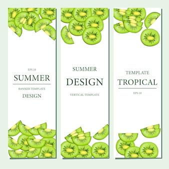 Modèle vertical avec des fruits