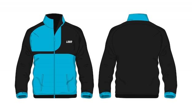 Modèle de veste de sport bleu et noir pour la conception sur fond blanc. illustration vectorielle eps 10.