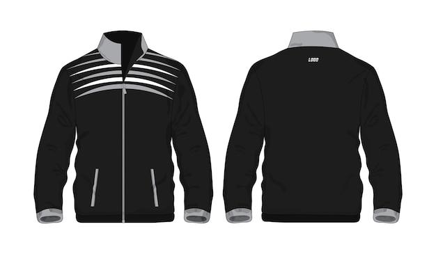 Modèle de veste de sport gris et noir pour la conception sur fond blanc. illustration vectorielle eps 10.