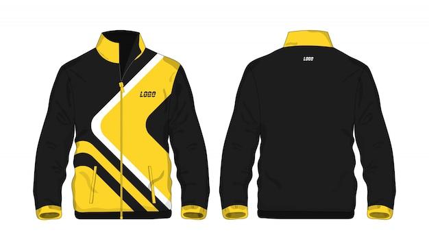 Modèle de veste de sport jaune et noir pour la conception sur fond blanc. illustration vectorielle eps 10.