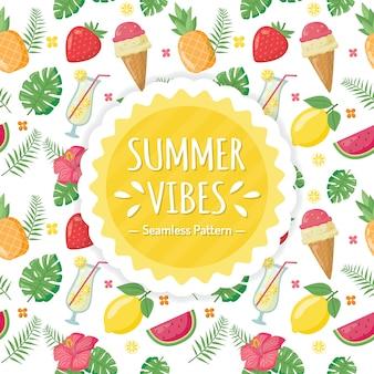 Modèle de vibes d'été