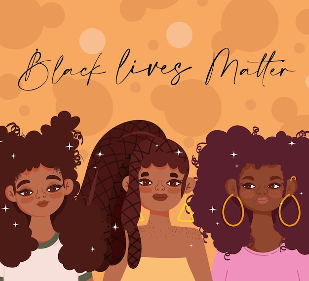 Modèle de vie noire avec de jolies filles