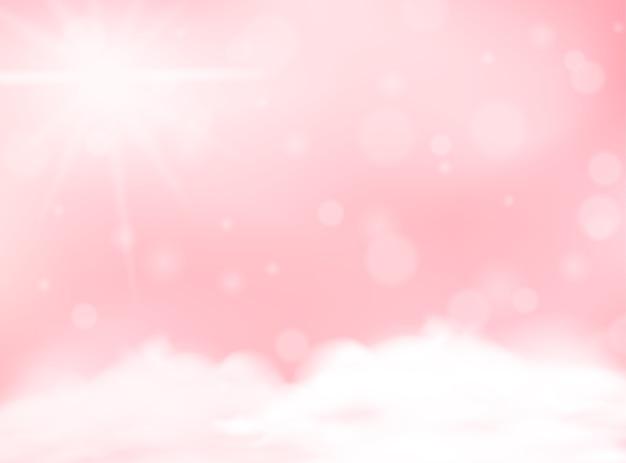Modèle vierge d'arrière-plan flou de couleur pastel rose