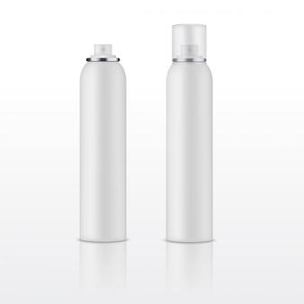 Modèle vierge de bouteille de déodorant blanc vector.