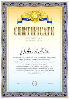 Modèle vierge de certificat.