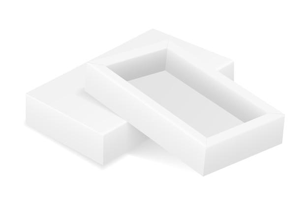Modèle vierge d'emballage de boîte en carton vide