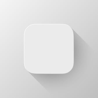 Modèle vierge d'icône d'application technologique blanche
