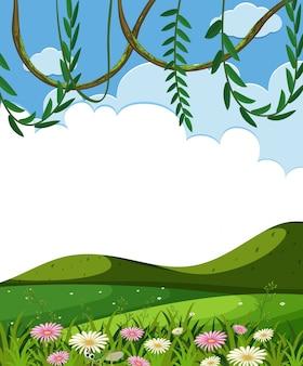Modèle de vigne et de collines vertes