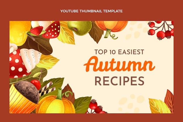 Modèle de vignette youtube automne dessiné à la main
