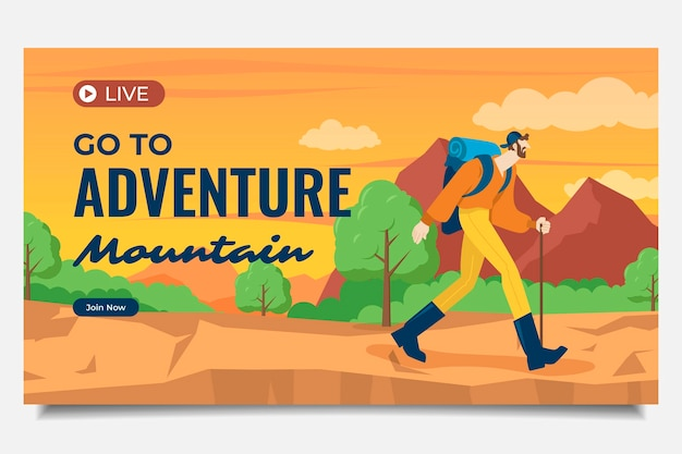 Modèle de vignette youtube aventure
