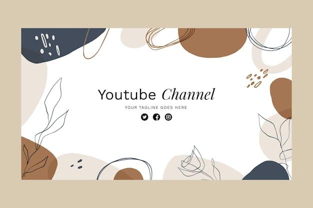 Modèle de vignette youtube de formes abstraites
