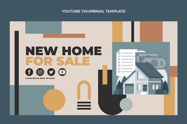 Modèle de vignette youtube immobilier design plat
