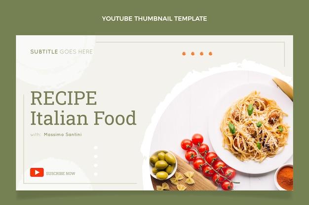 Modèle de vignette youtube de nourriture plate