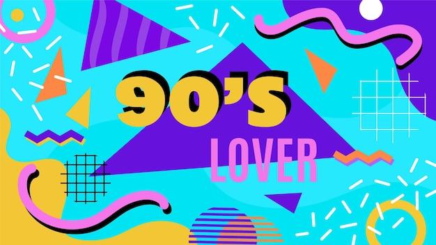 Modèle de vignette youtube plat nostalgique des années 90