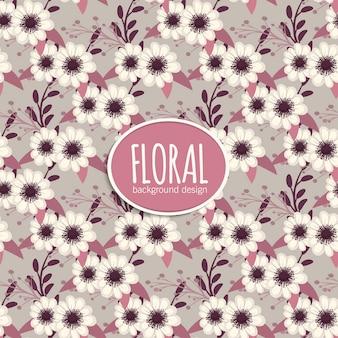 Modèle vintage de fleur transparente motif
