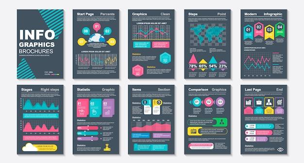 Modèle de visualisation de données de brochure infographique.