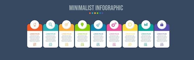 Modèle de visualisation de données d'éléments infographiques
