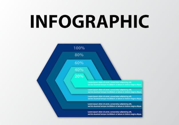 Modèle de visualisation de données infographie