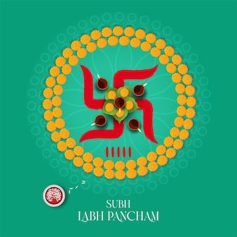 Modèle de voeux créatif subh labh pancham