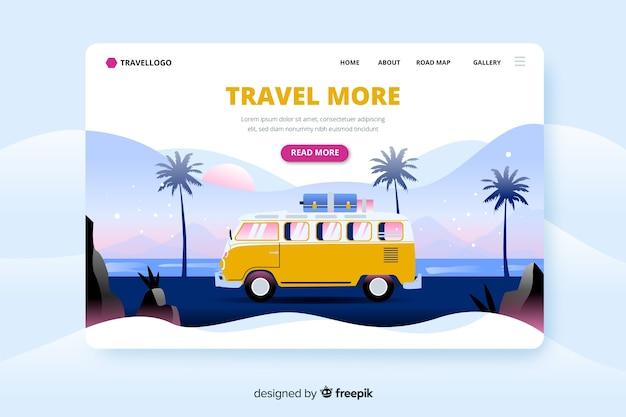 Modèle de voyage de page de destination
