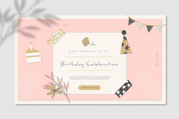 Modèle web d'anniversaire