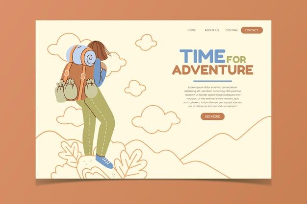Modèle web d'aventure design plat