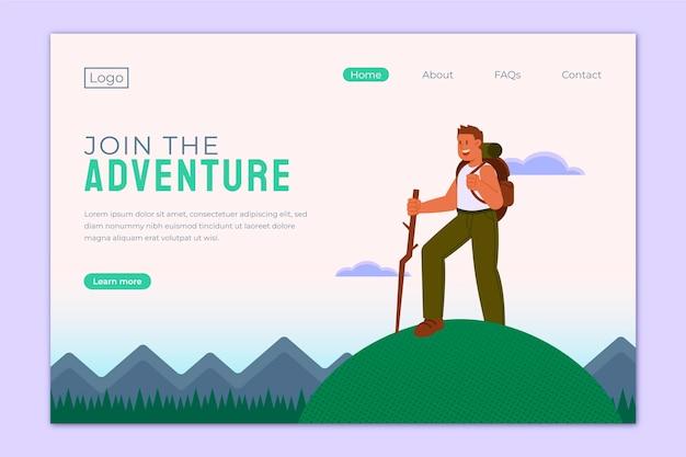 Modèle web d'aventure plat