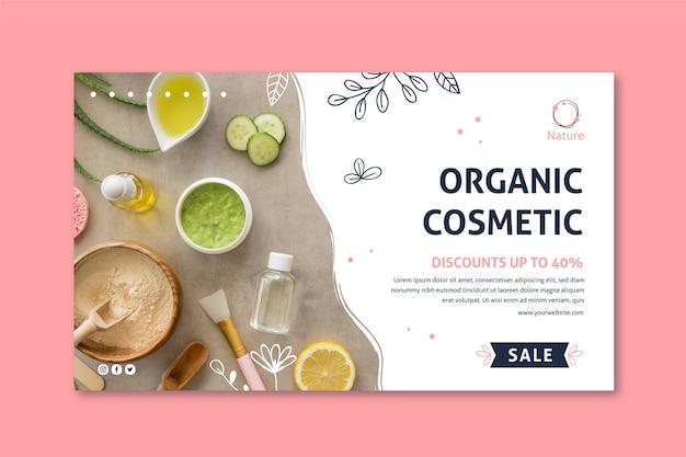 Modèle web de bannière de cosmétiques naturels essence originale