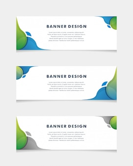 Modèle de web bannière design abstrait. - vecteur