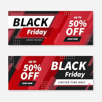 Modèle web de bannière vendredi noir