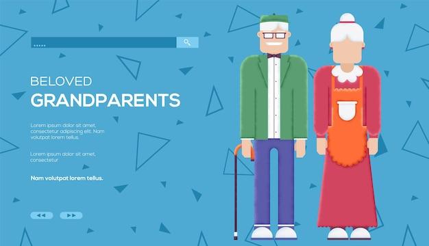 Modèle web de concept de grands-parents.