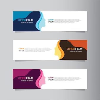 Modèle web de conception bannière abstrait vector