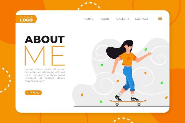 Modèle web design plat organique sur moi