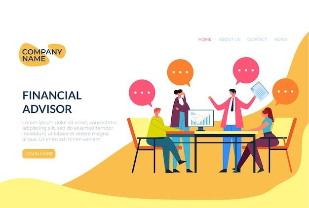 Modèle web de discussion des employés de bureau