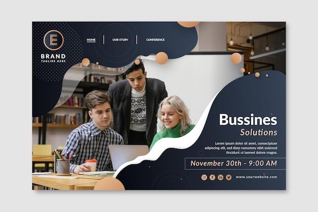 Modèle web d'entreprise général