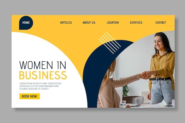 Modèle Web De Femme D'affaires Moderne Vecteur gratuit