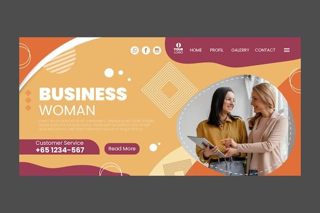 Modèle web de femme d & # 39; affaires avec photo