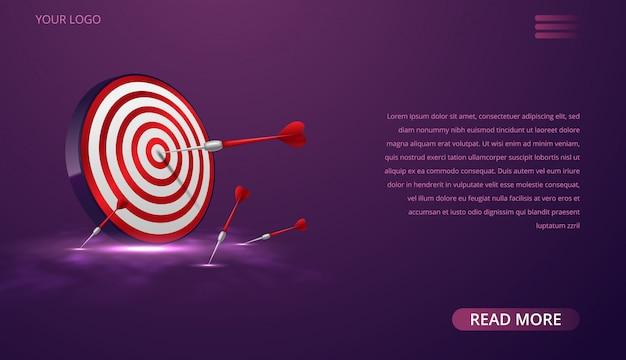 Modèle web de fléchettes sur bullseye
