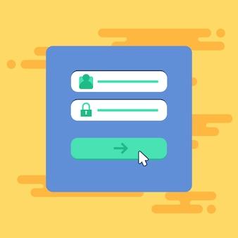 Modèle web de formulaire de connexion à l'ordinateur